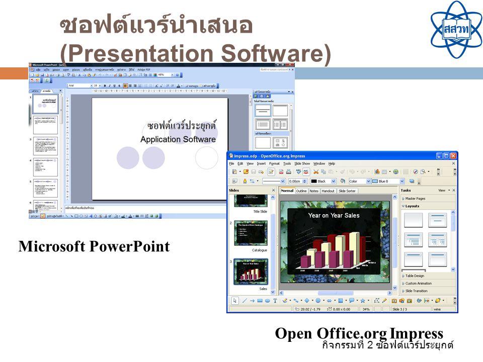 ซอฟต์แวร์นำเสนอ (Presentation Software)
