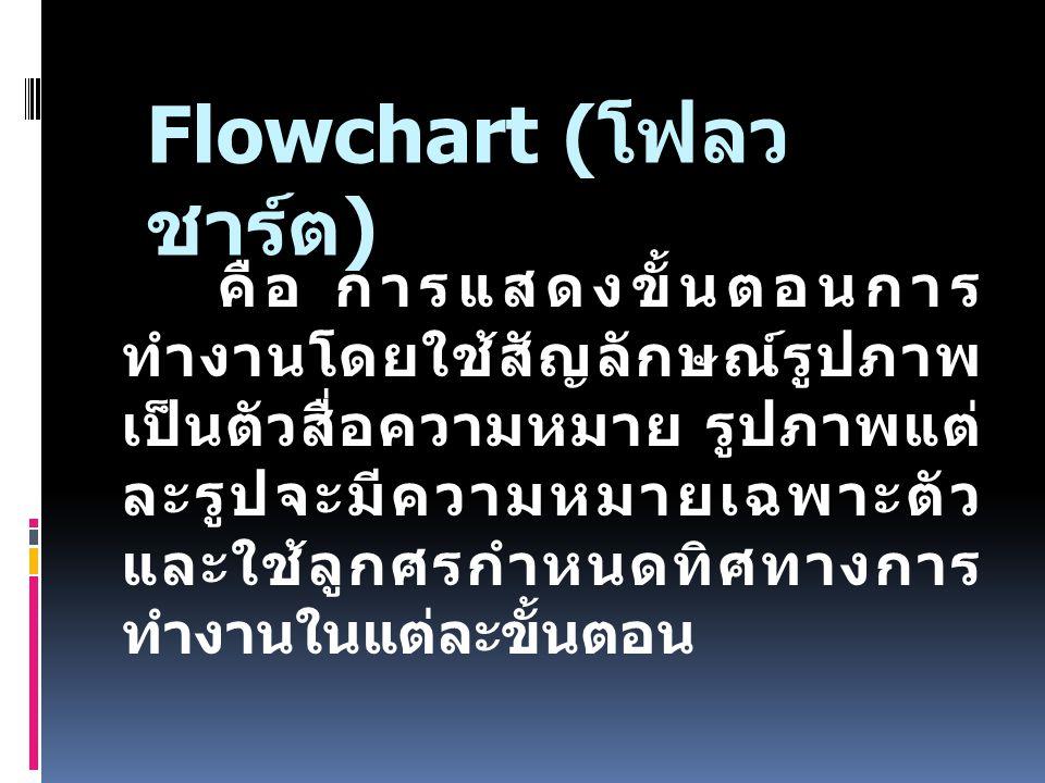 Flowchart (โฟลวชาร์ต)