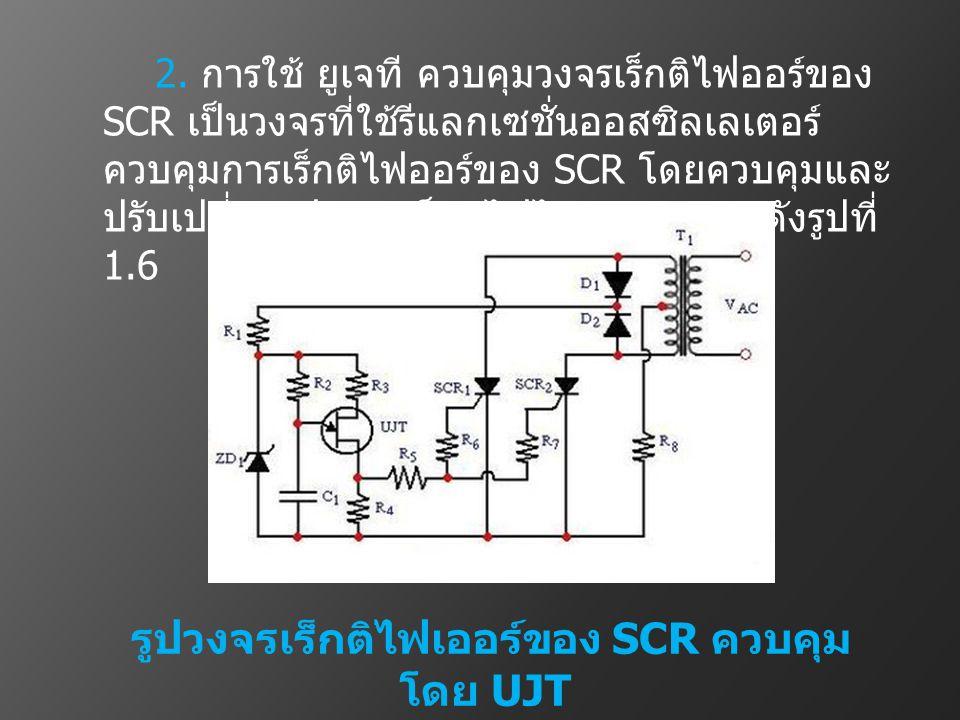 รูปวงจรเร็กติไฟเออร์ของ SCR ควบคุมโดย UJT