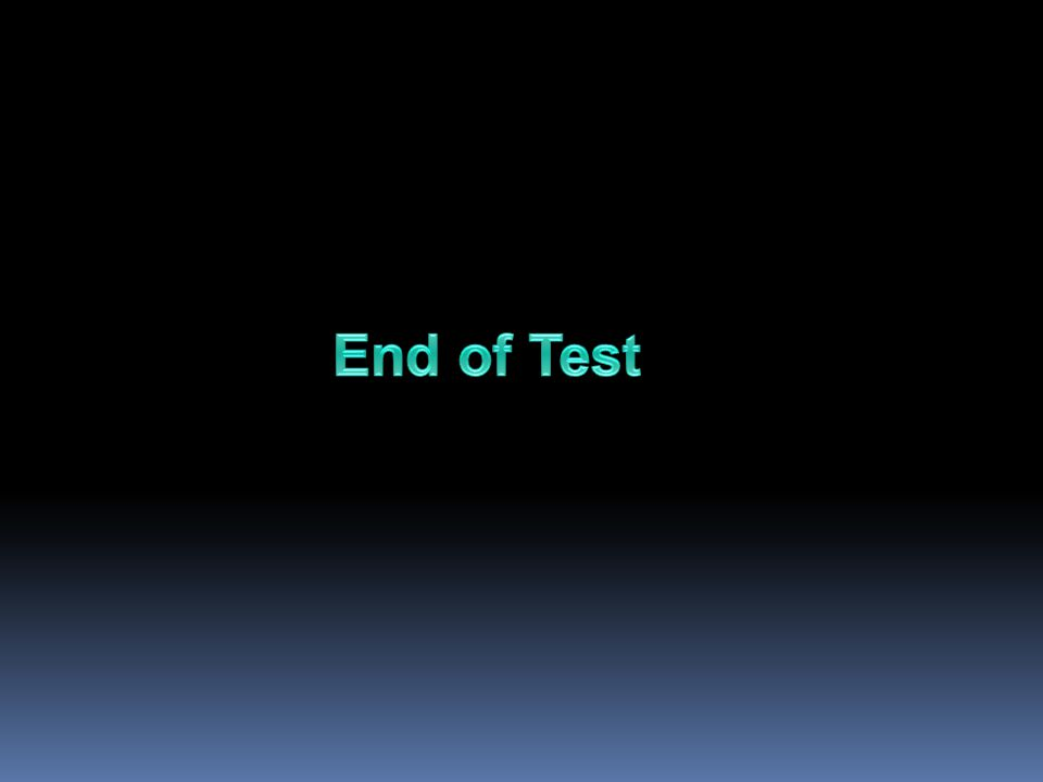 End of Test