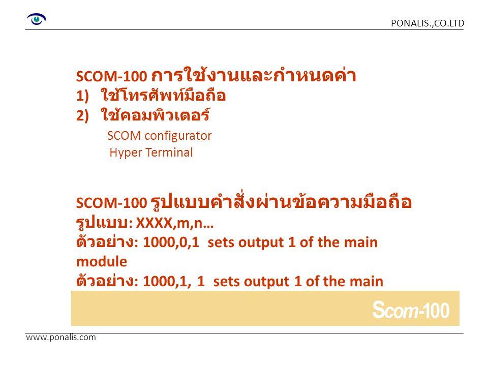 SCOM-100 การใช้งานและกำหนดค่า 1) ใช้โทรศัพท์มือถือ 2) ใช้คอมพิวเตอร์