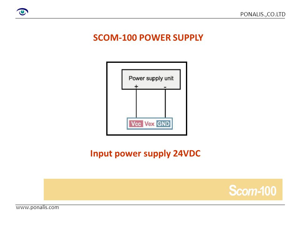 SCOM-100 POWER SUPPLY Input power supply 24VDC