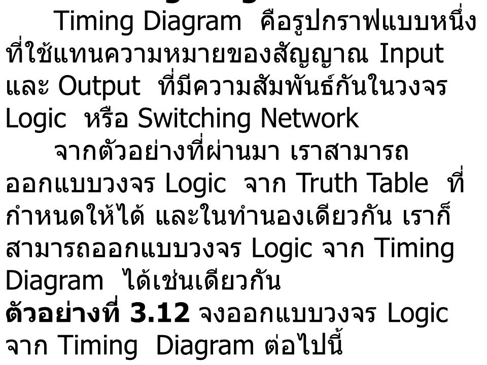 3.12 Timing Diagram