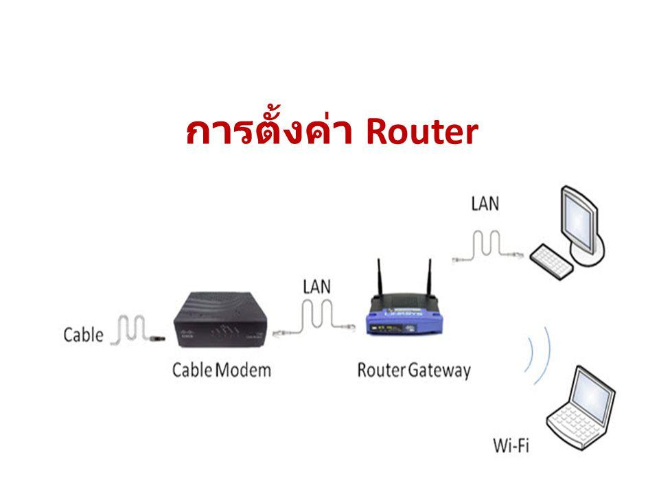 การตั้งค่า Router