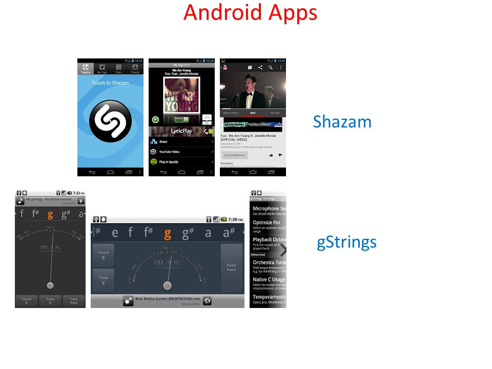 Android Apps Shazam gStrings