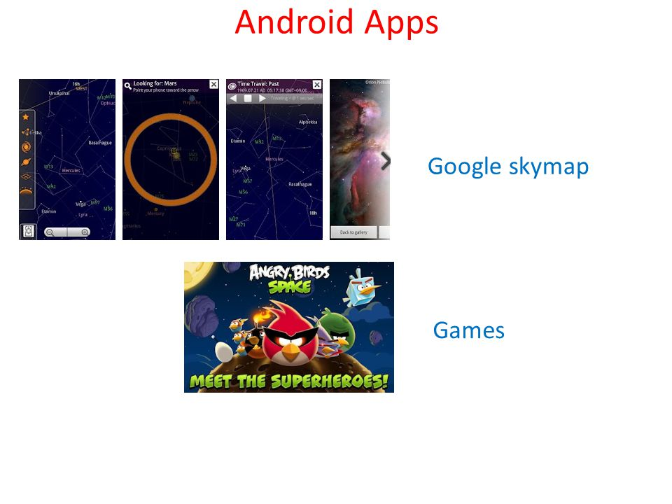 Android Apps Google skymap Games