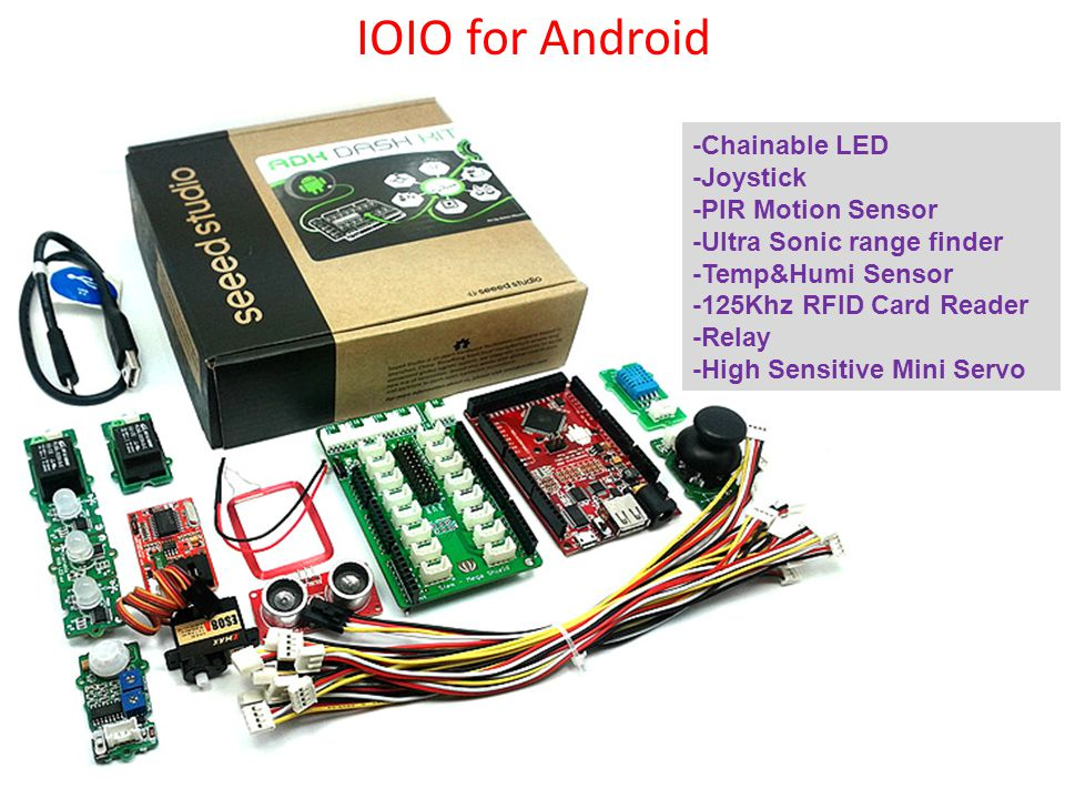 IOIO for Android -Chainable LED -Joystick -PIR Motion Sensor