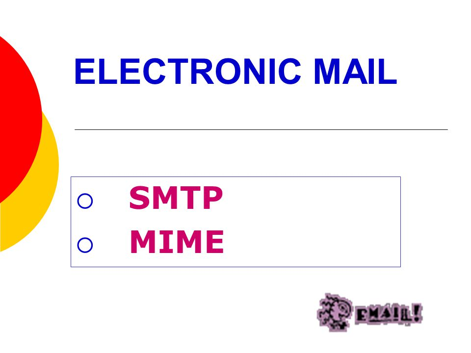 ELECTRONIC MAIL SMTP MIME