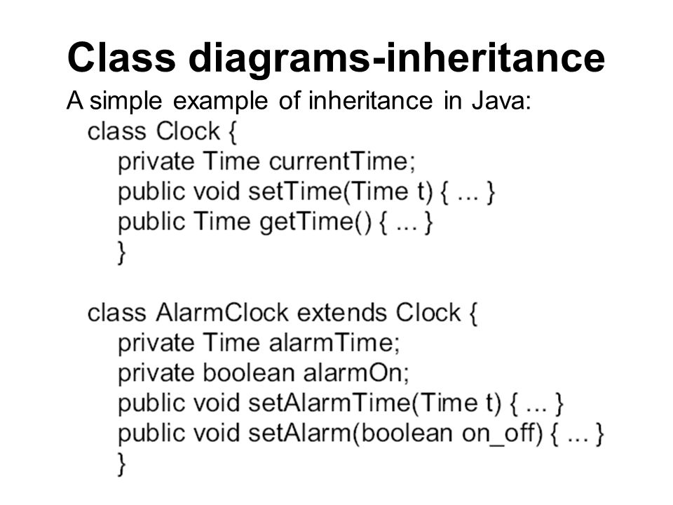 Class diagrams-inheritance