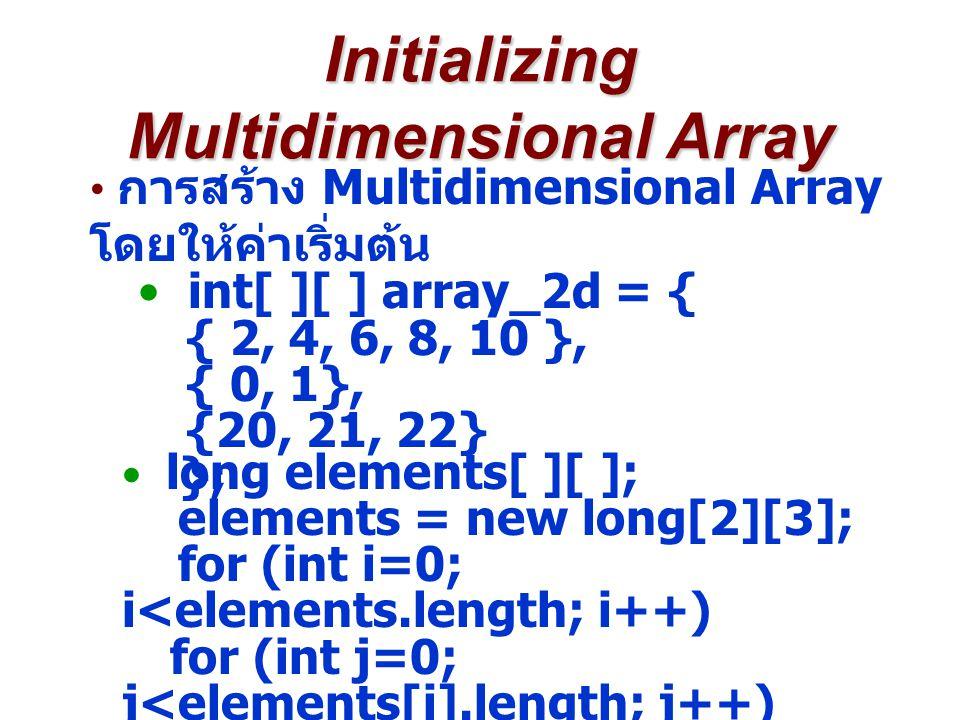 Initializing Multidimensional Array