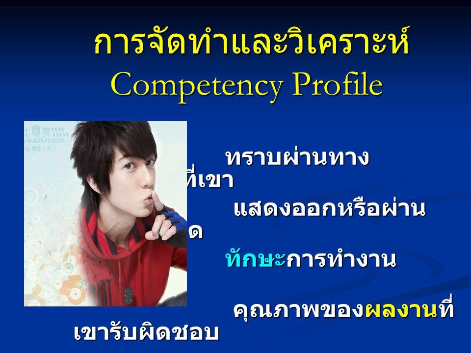 การจัดทำและวิเคราะห์ Competency Profile