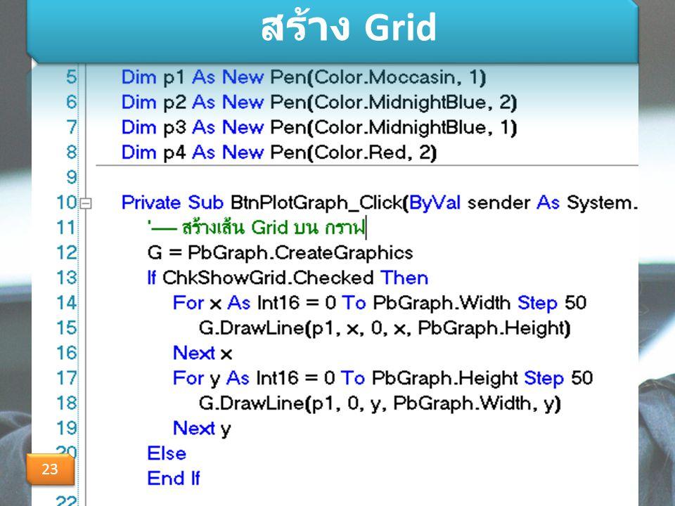 สร้าง Grid 23