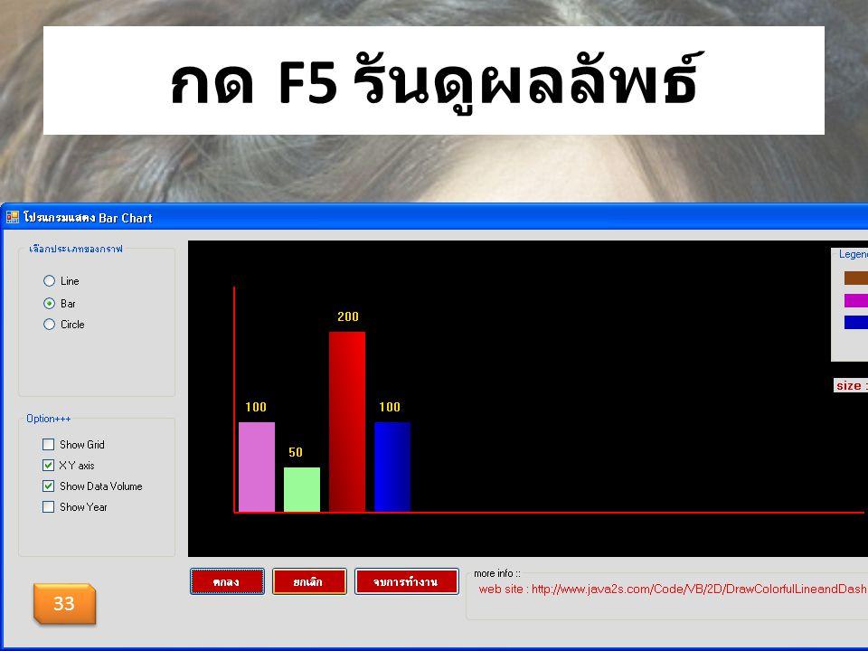 กด F5 รันดูผลลัพธ์ 33