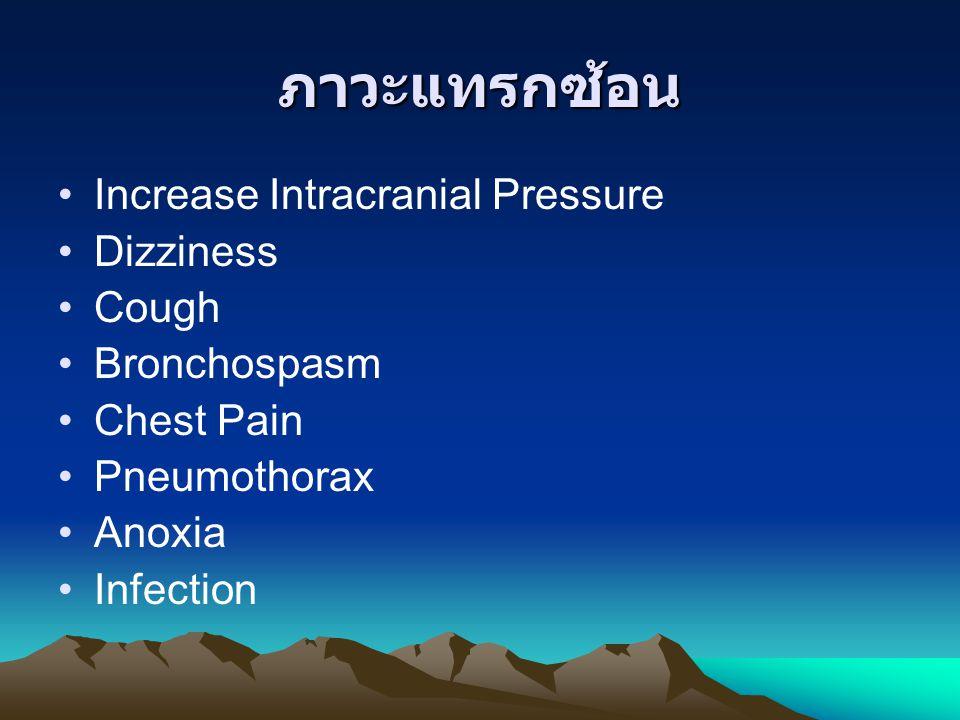 ภาวะแทรกซ้อน Increase Intracranial Pressure Dizziness Cough