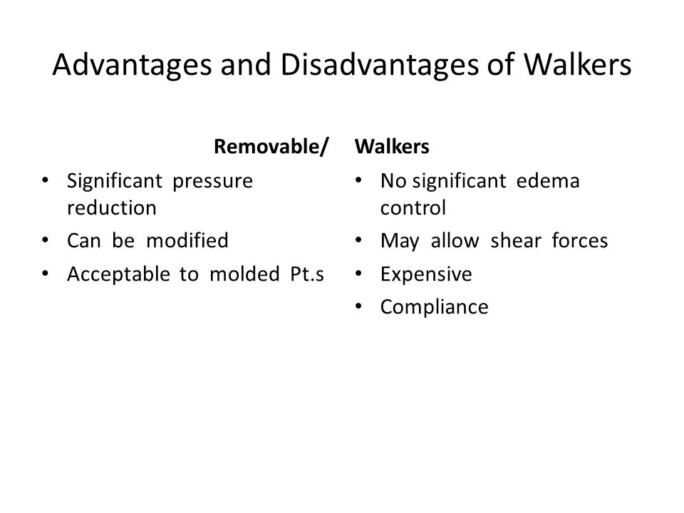 Advantages and Disadvantages of Walkers