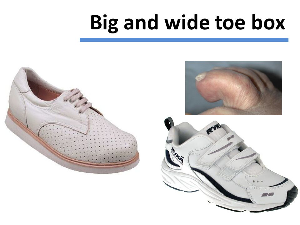 Big and wide toe box
