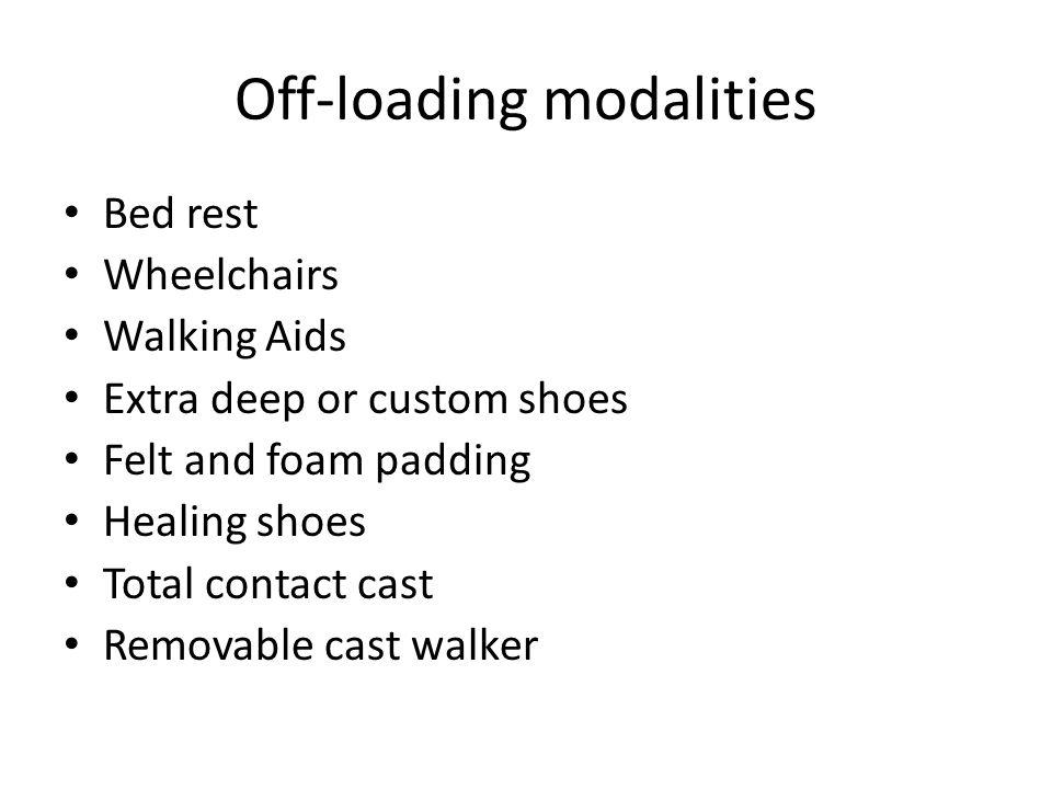 Off-loading modalities