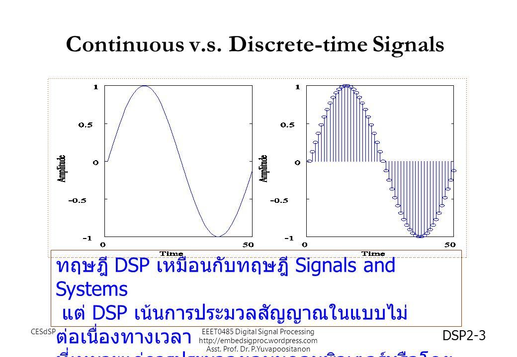 Continuous v.s. Discrete-time Signals