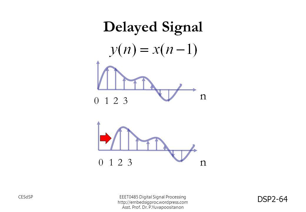 Delayed Signal n n 1 2 3 1 2 3 CESdSP