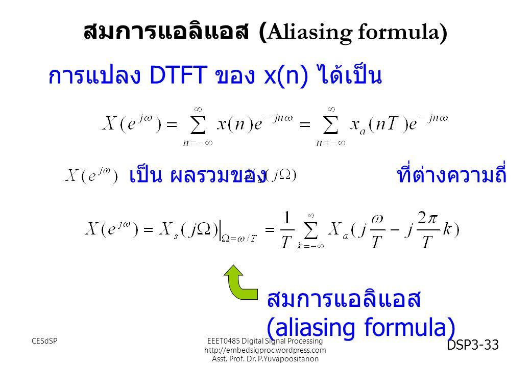 สมการแอลิแอส (Aliasing formula)