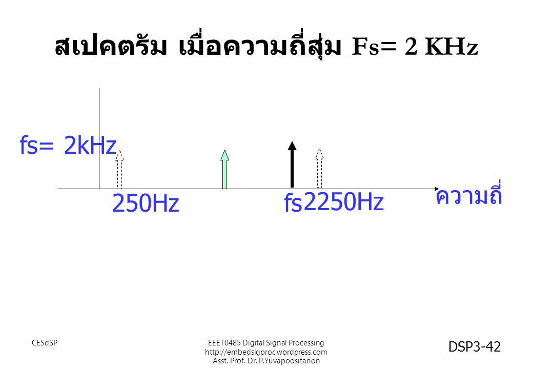 สเปคตรัม เมื่อความถี่สุ่ม Fs= 2 KHz