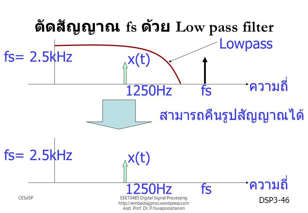 ตัดสัญญาณ fs ด้วย Low pass filter