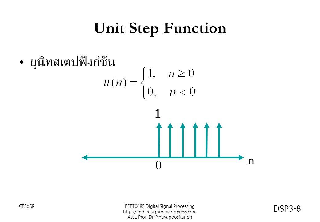 Unit Step Function ยูนิทสเตปฟังก์ชัน 1 n CESdSP