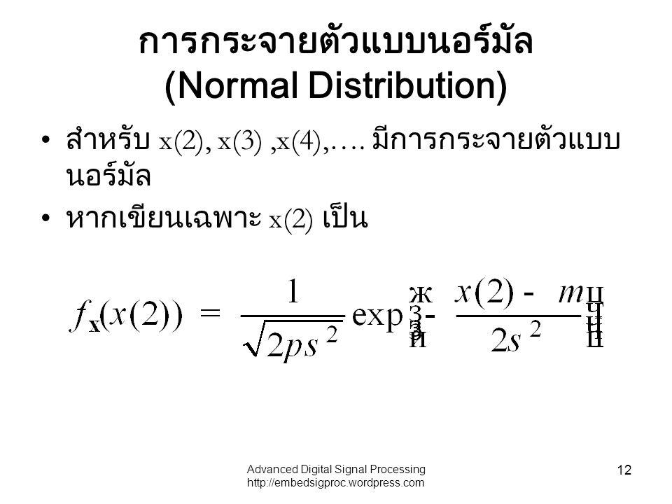 การกระจายตัวแบบนอร์มัล (Normal Distribution)