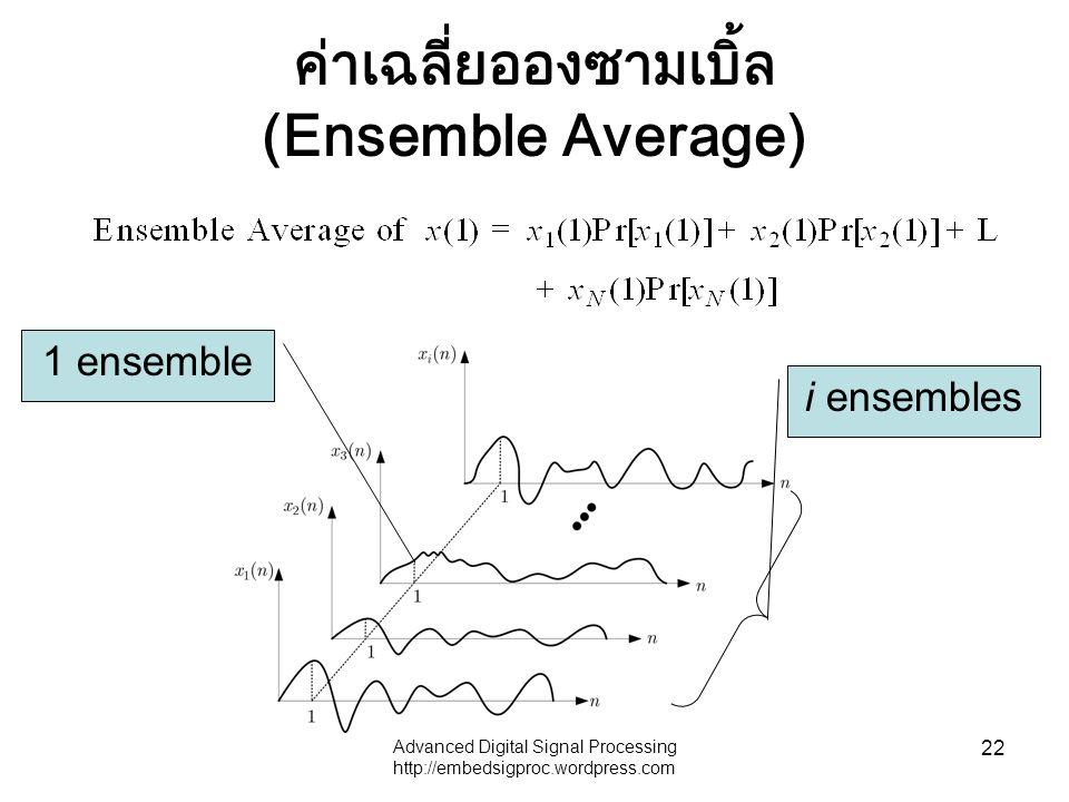 ค่าเฉลี่ยอองซามเบิ้ล (Ensemble Average)
