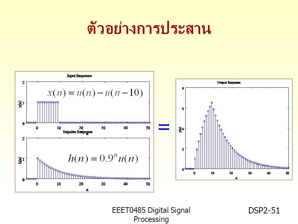 = ตัวอย่างการประสาน EEET0485 Digital Signal Processing