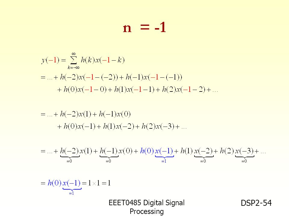 n = -1 EEET0485 Digital Signal Processing