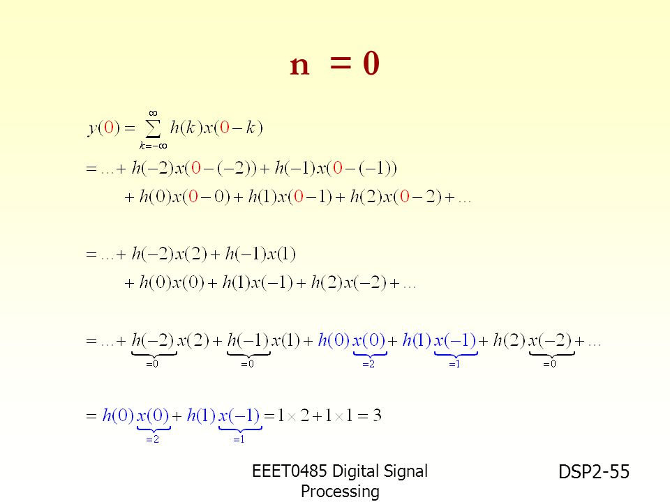 n = 0 EEET0485 Digital Signal Processing