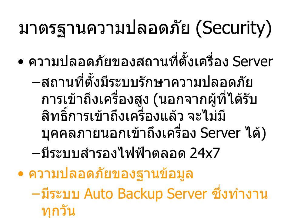 มาตรฐานความปลอดภัย (Security)