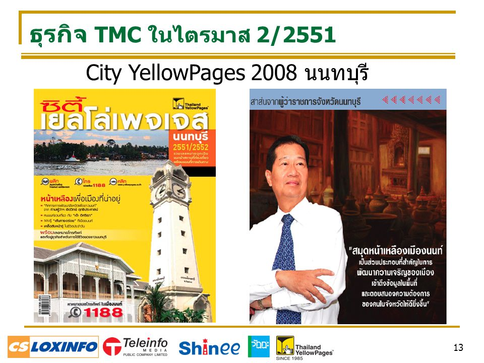 City YellowPages 2008 นนทบุรี