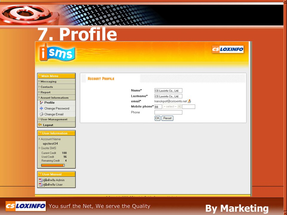 7. Profile By Marketing Leased Line