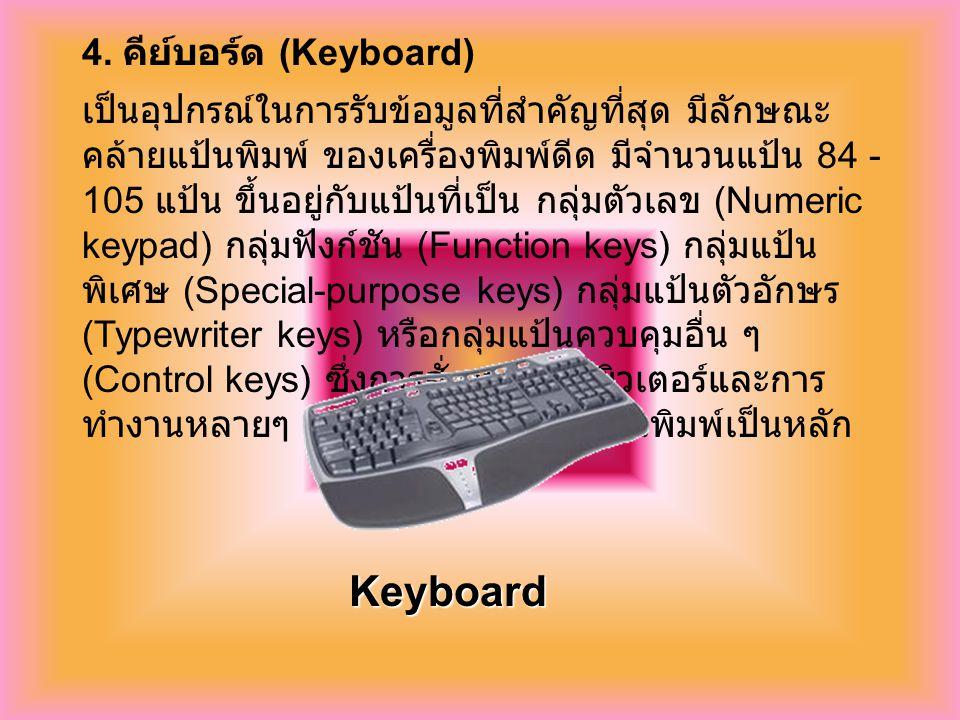 Keyboard 4. คีย์บอร์ด (Keyboard)
