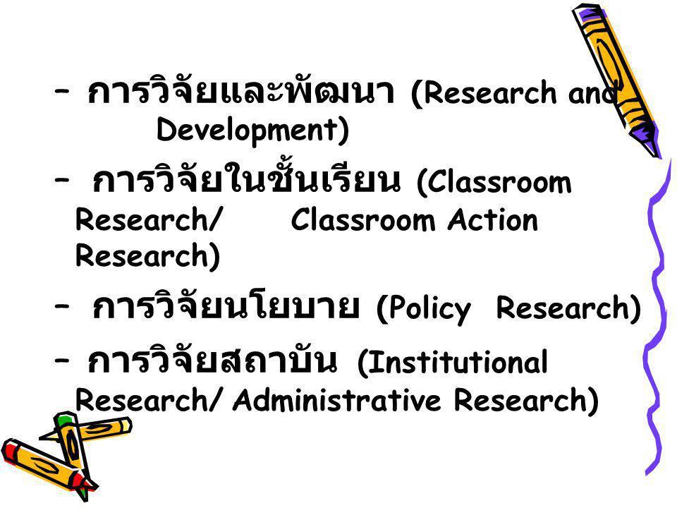 การวิจัยและพัฒนา (Research and Development)