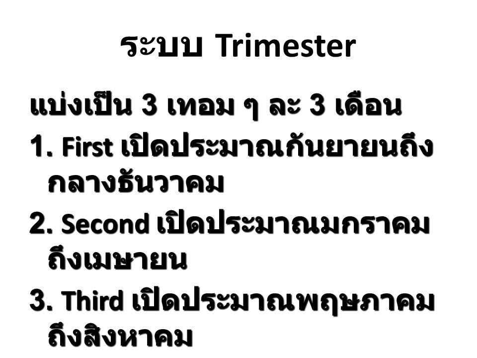 ระบบ Trimester