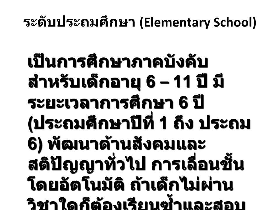 ระดับประถมศึกษา (Elementary School)