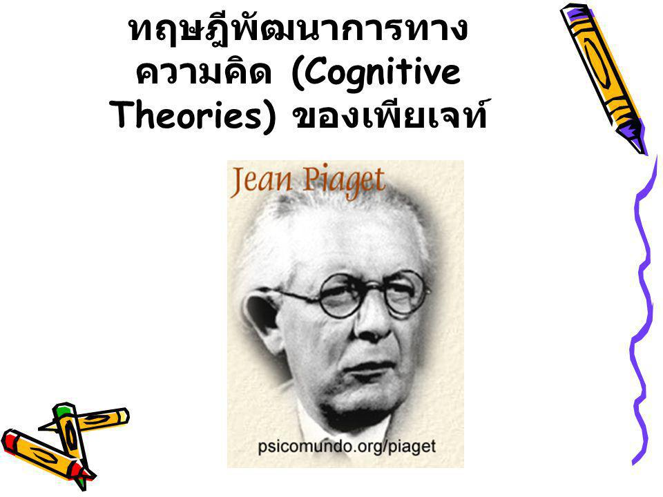 ทฤษฎีพัฒนาการทางความคิด (Cognitive Theories) ของเพียเจท์