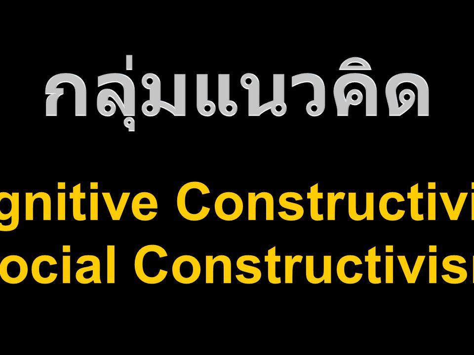 Cognitive Constructivism Social Constructivism