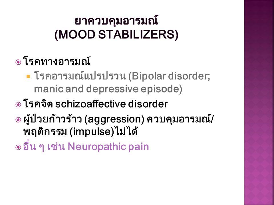 ยาควบคุมอารมณ์ (Mood Stabilizers)