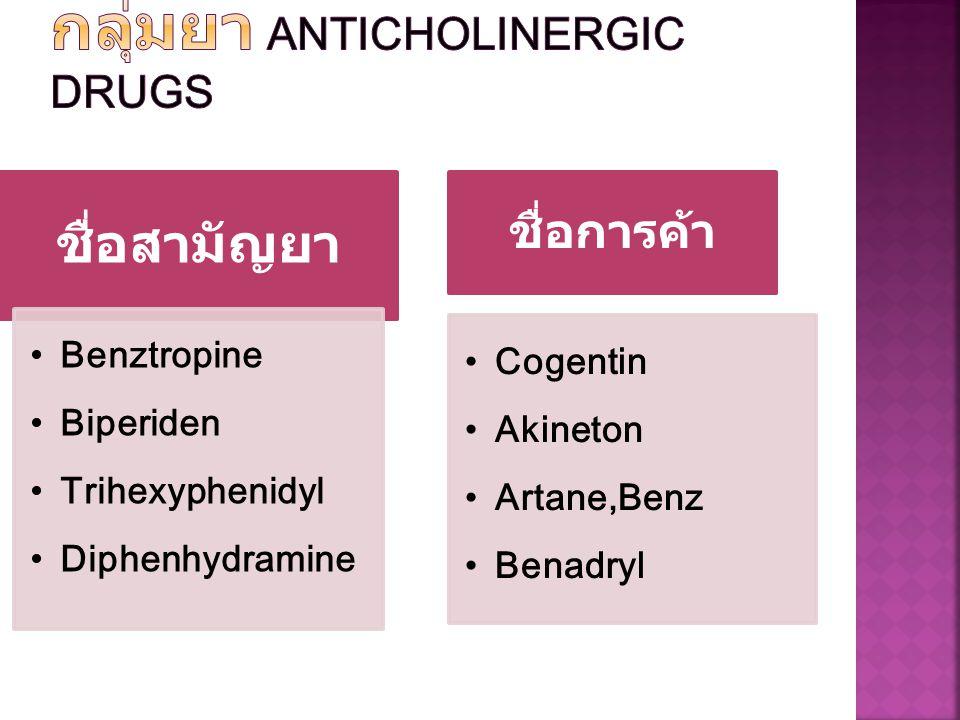กลุ่มยา Anticholinergic drugs