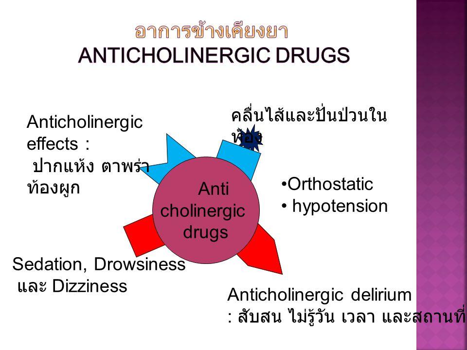 อาการข้างเคียงยา Anticholinergic drugs