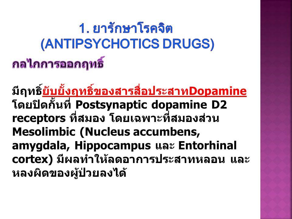 1. ยารักษาโรคจิต (Antipsychotics drugs)