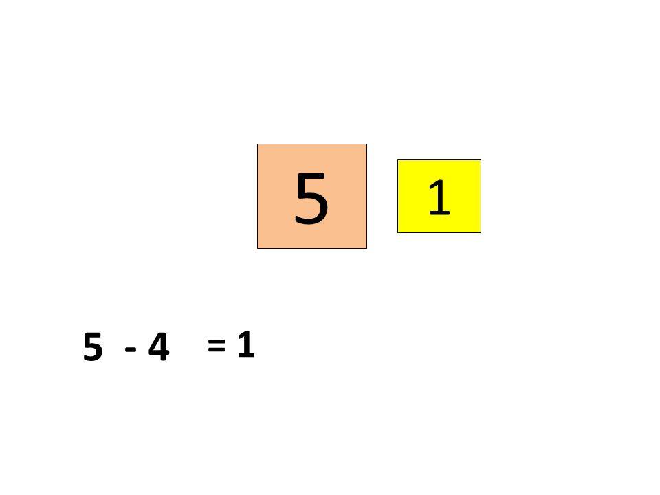 5 1 5 - 4 = 1
