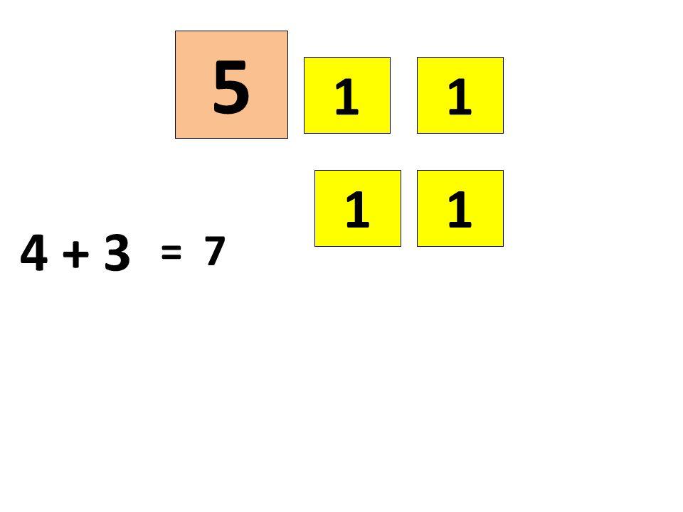 5 1 1 1 1 4 + 3 = 7