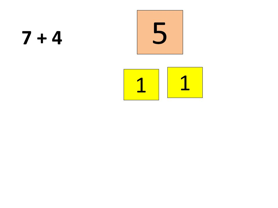 5 7 + 4 1 1