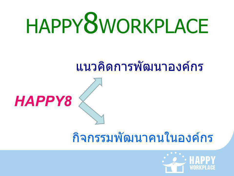 HAPPY8WORKPLACE แนวคิดการพัฒนาองค์กร HAPPY8 กิจกรรมพัฒนาคนในองค์กร