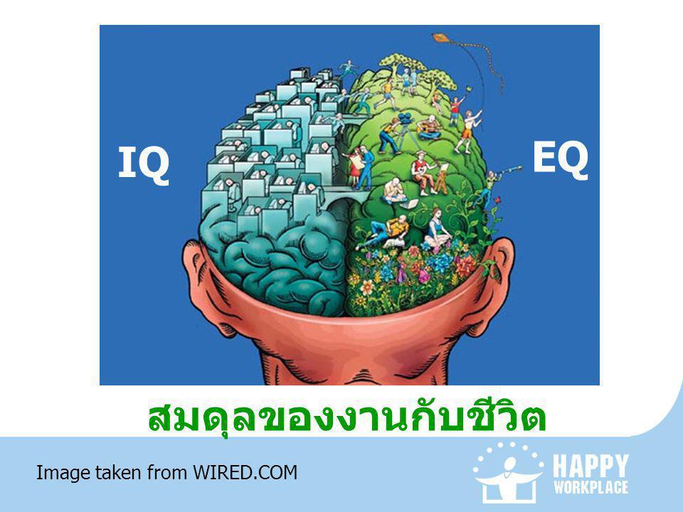 EQ IQ สมดุลของงานกับชีวิต Image taken from WIRED.COM